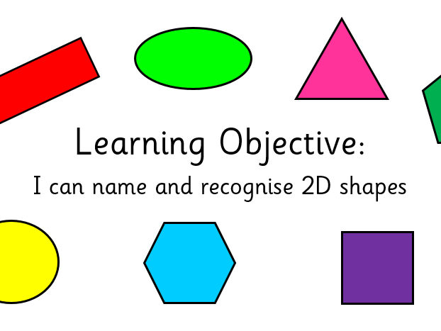 I can name and recognise common 2D shapes