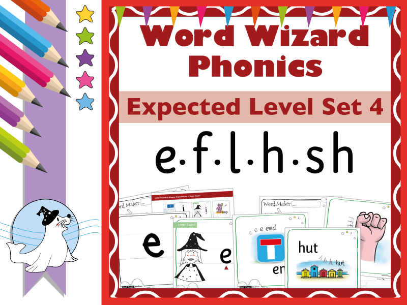 Word Wizard Phonics Expected Set 4: e.f.l.h.sh