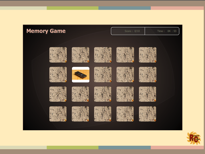 Computer Components Matching Game Interactive