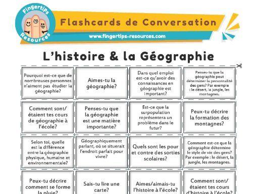 L'histoire & la Géographie - French Conversation Flashcards
