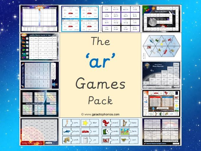 The 'ar' Phonics Games Pack (Phase 3)