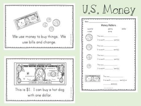 U.S. money emergent reader & activities