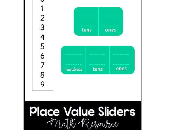Place Value Sliders - Math Resource