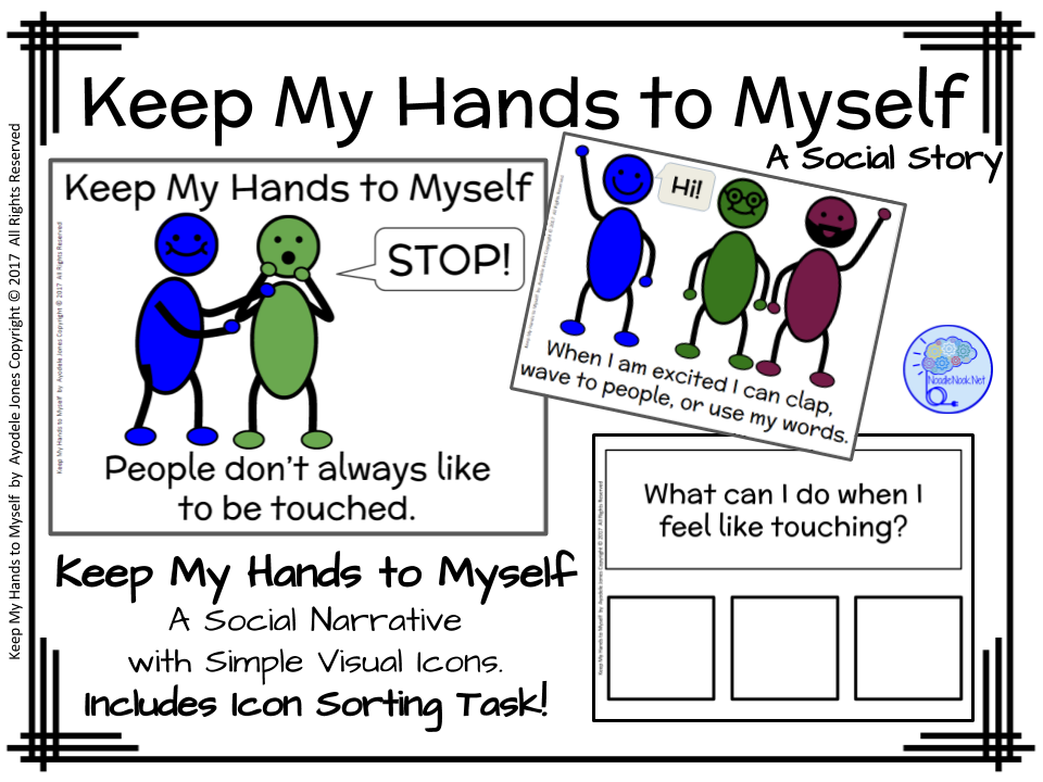 Keep My Hands To Myself- A Social Story For Autism Units -8687