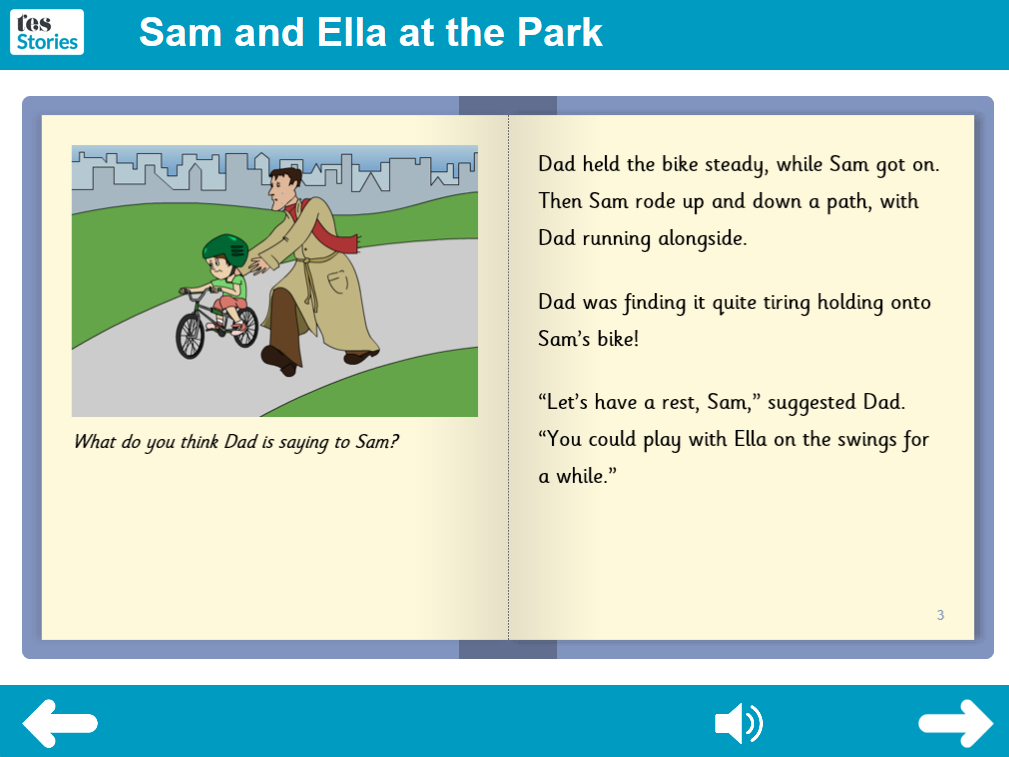 At the Park Interactive Storybook - Independent Reader Level - PSHE KS1