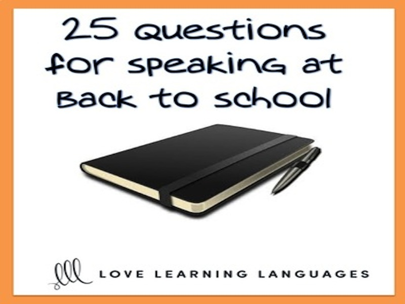Back to school speaking questions about summer