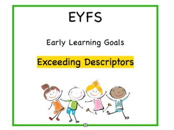 EYFS Exceeding Descriptors Cards