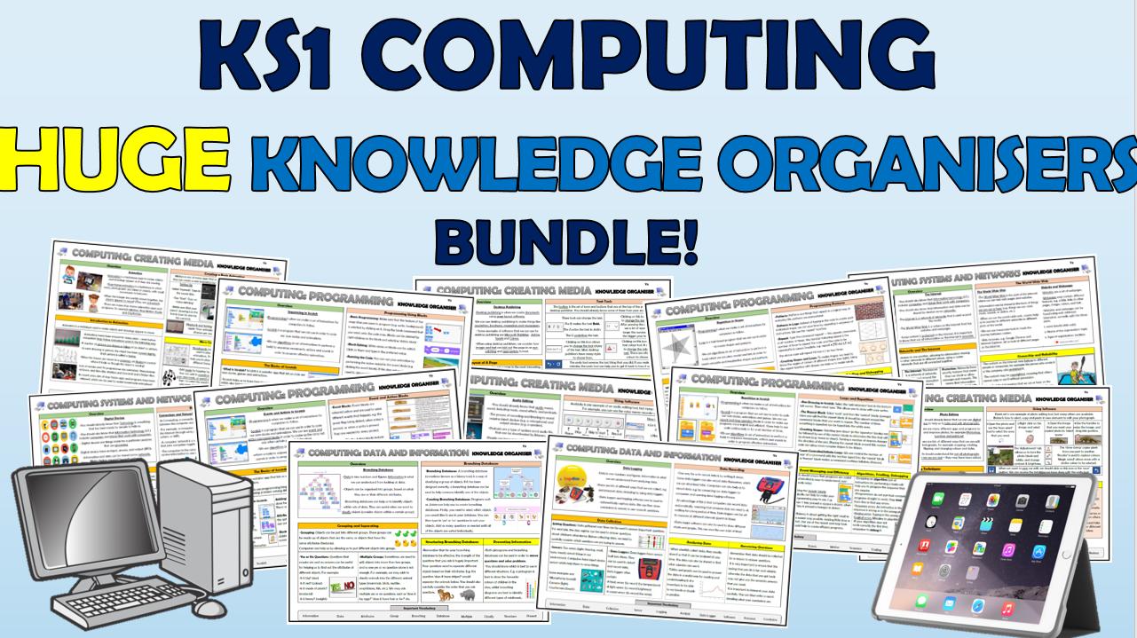 KS1 Huge Computing Knowledge Organisers Bundle!