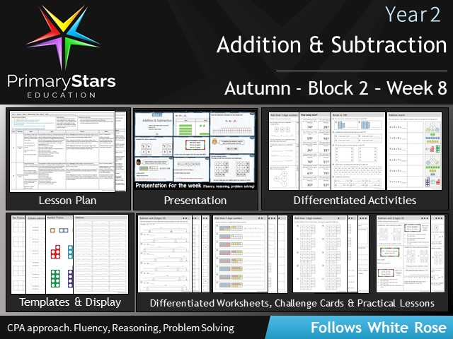 YEAR 2 - Addition Subtraction - White Rose - WEEK 8 - Block 2 - Autumn - Differentiated Resources