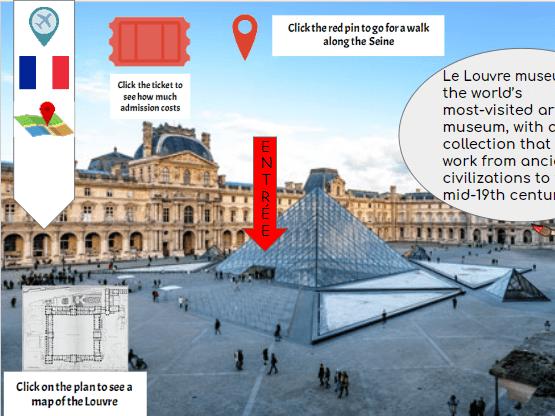 Virtual trip to Paris Bitmoji
