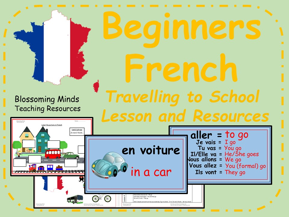 French Lesson and Resources - KS2 - Travelling to school