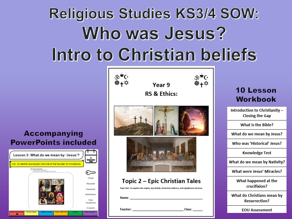 Who was Jesus? Full SOW / PP and Workbook