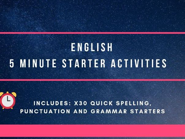 5 minute starters  - English