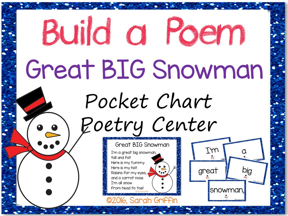 Build a Poem: Great BIG Snowman - Pocket Chart Center