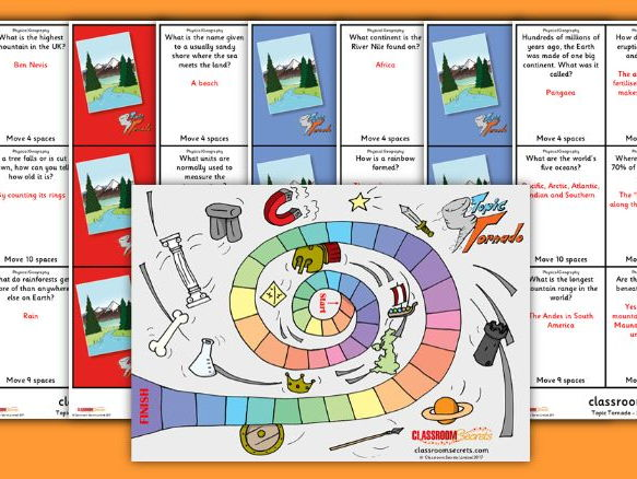 KS1 Physical Geography Board Game
