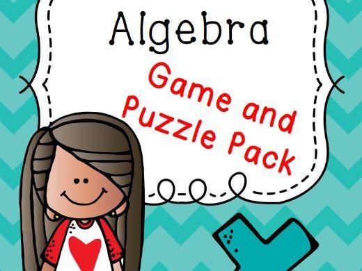 Algebra Puzzle and Game Bundle