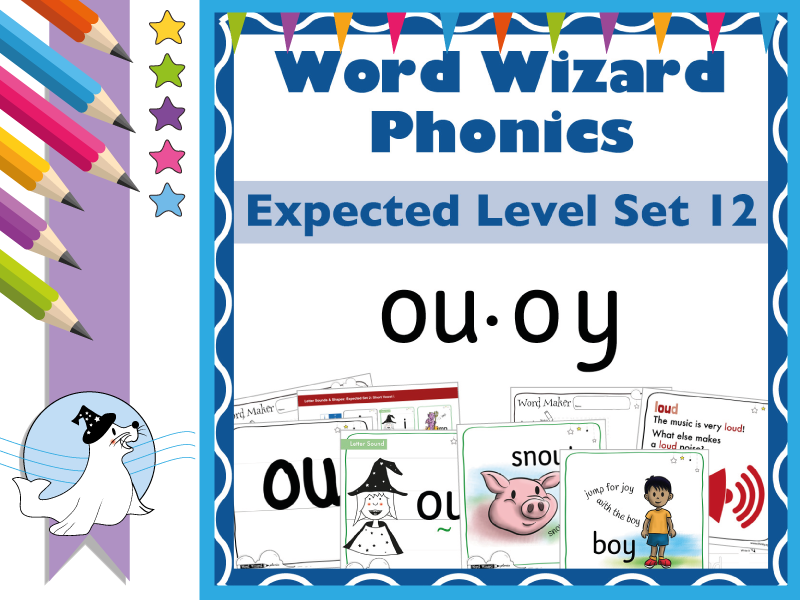 Word Wizard Phonics Expected Set 12: Vowels ou.oy