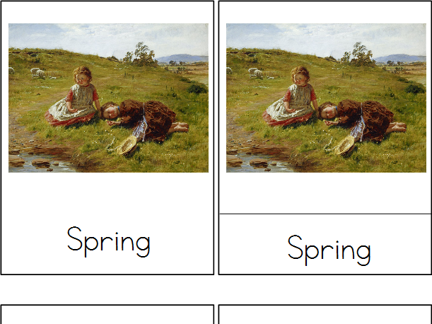 Spring Masterpieces - Montessori 3-Part Cards
