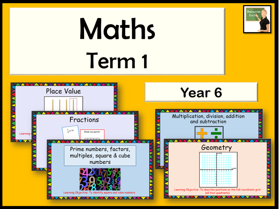 Maths Year 6 Term 1 BUNDLE