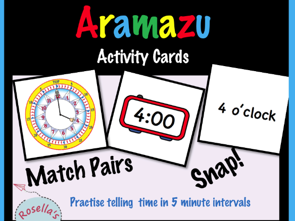 Telling the Time Activities (with the Aramazu Clock)