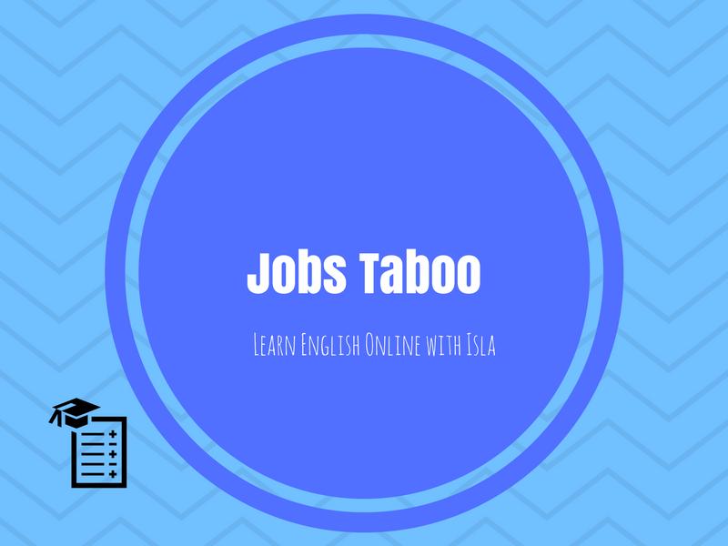 Jobs Taboo (ESOL/ESL/EAL/EFL)
