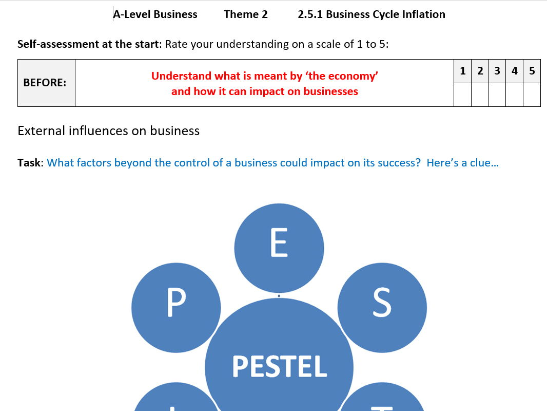 Theme 2 Worksheets and Practice Questions Edexcel A Level Business.