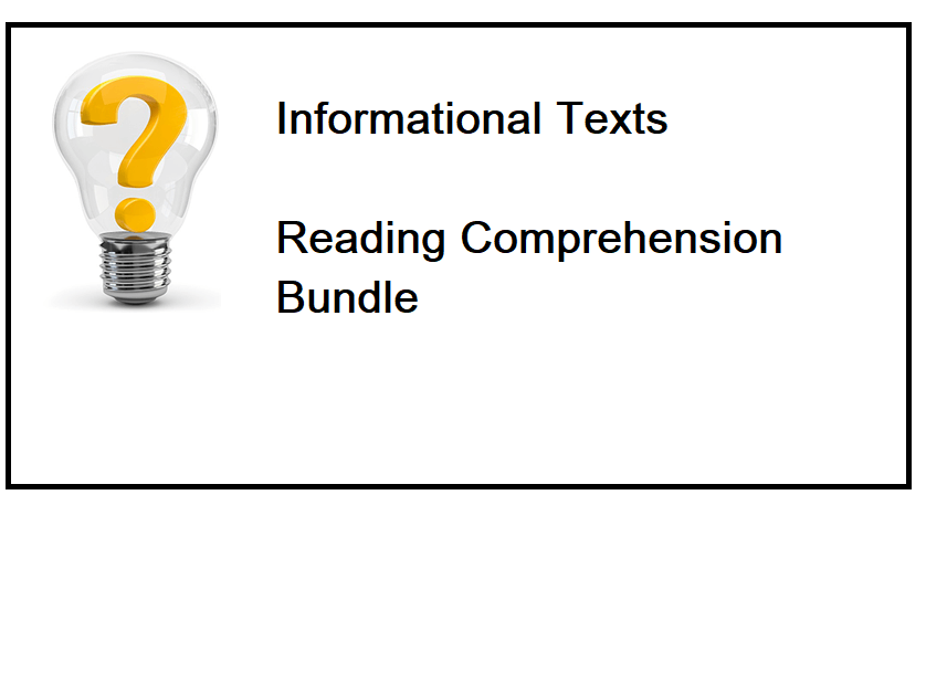 Informational Texts - Reading Comprehension Worksheets - Bundle (SAVE 85%)