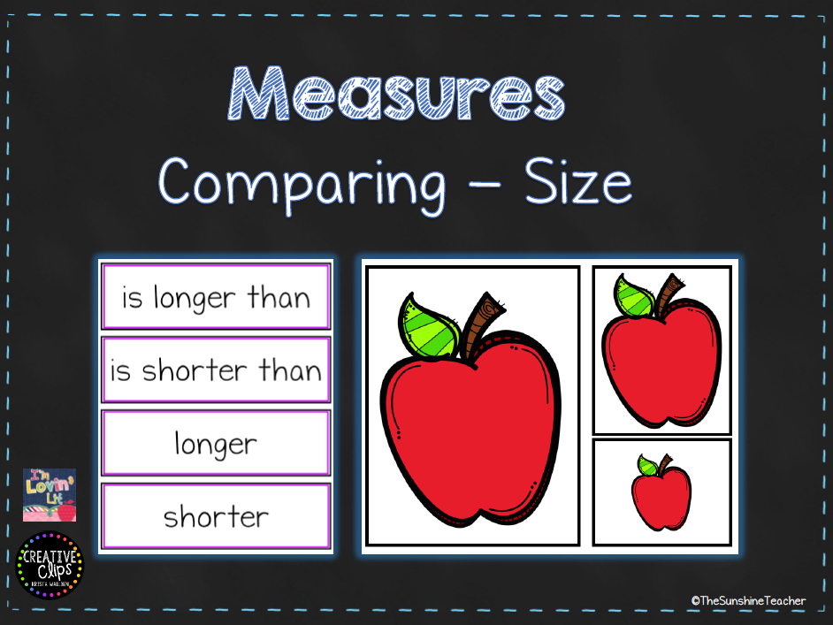 Comparing Size - Measures - Maths  Activity