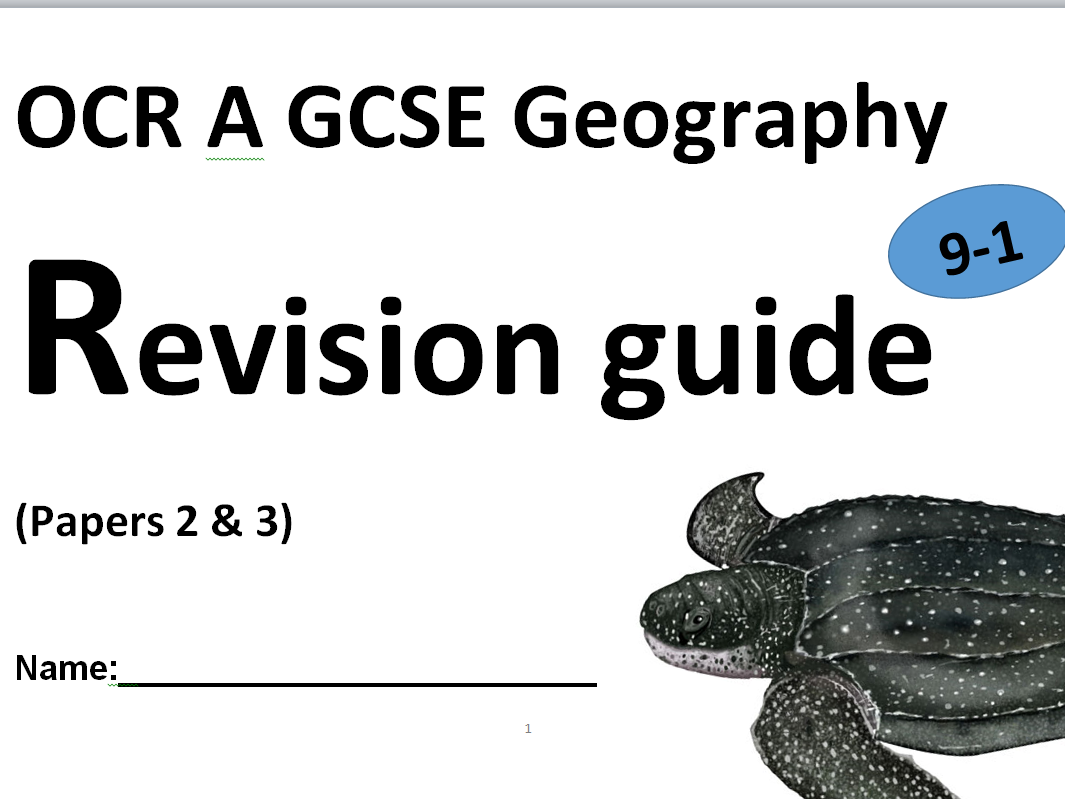OCR revision guides all 3 exams & case study booklet geography 1-9 gcse