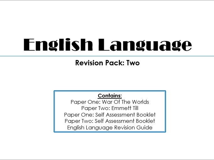 English Language Paper One and Paper Two Revision Guide With Mock Papers and Grade Boundaries (2017)