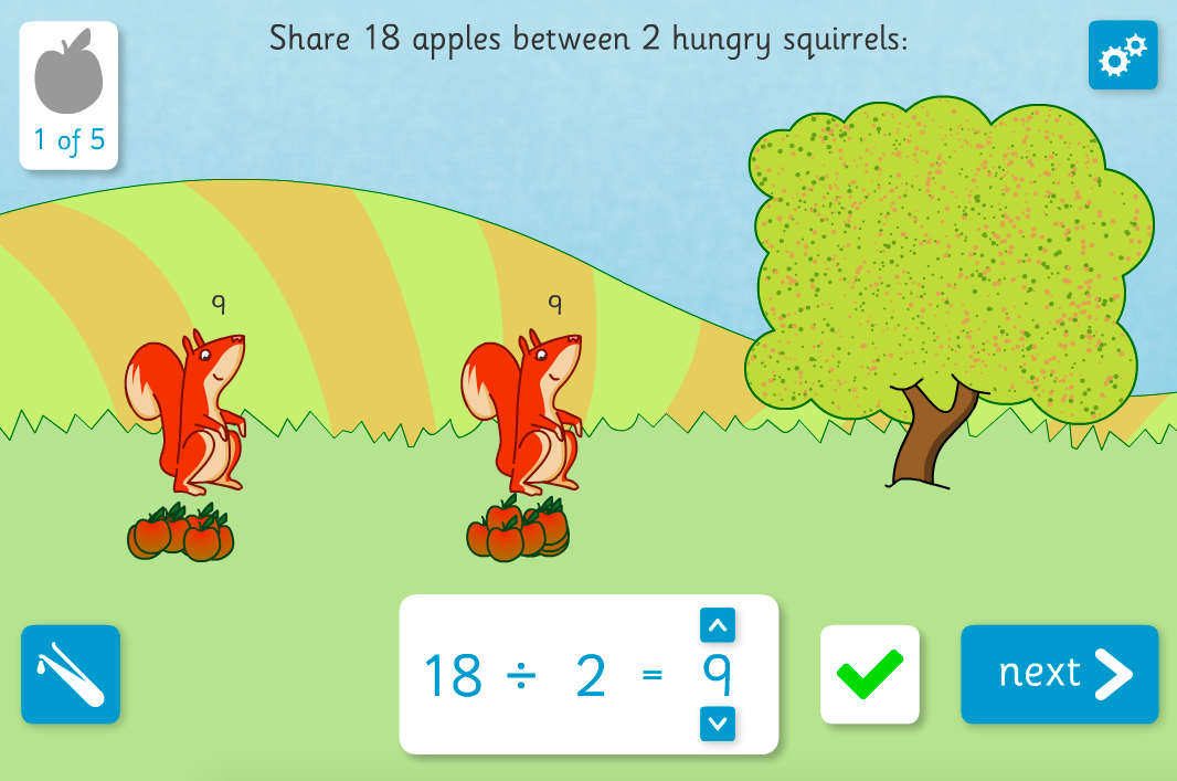 Squirrel Share - Division Interactive Activity - KS2 Number