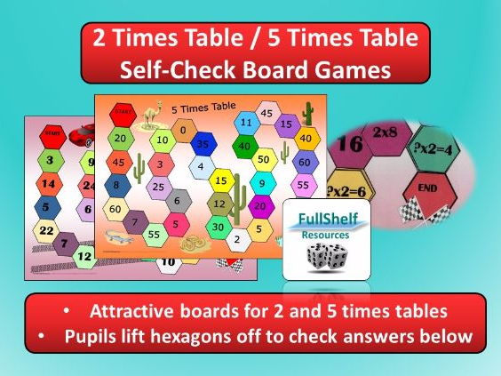 2 Times Table / 5 Times Table Games