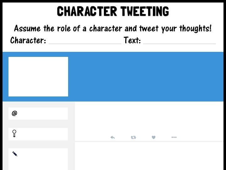 Character tweeting