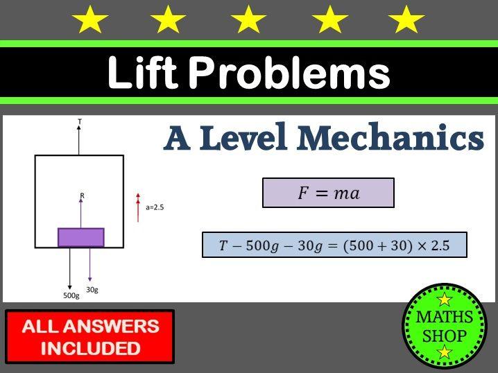 Mechanics lift (elevator) problems