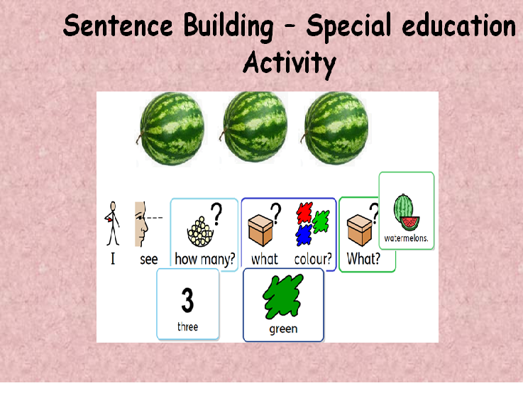 Building sentences- summer fruits