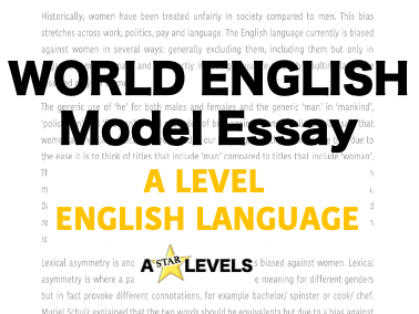 World English Example Essay