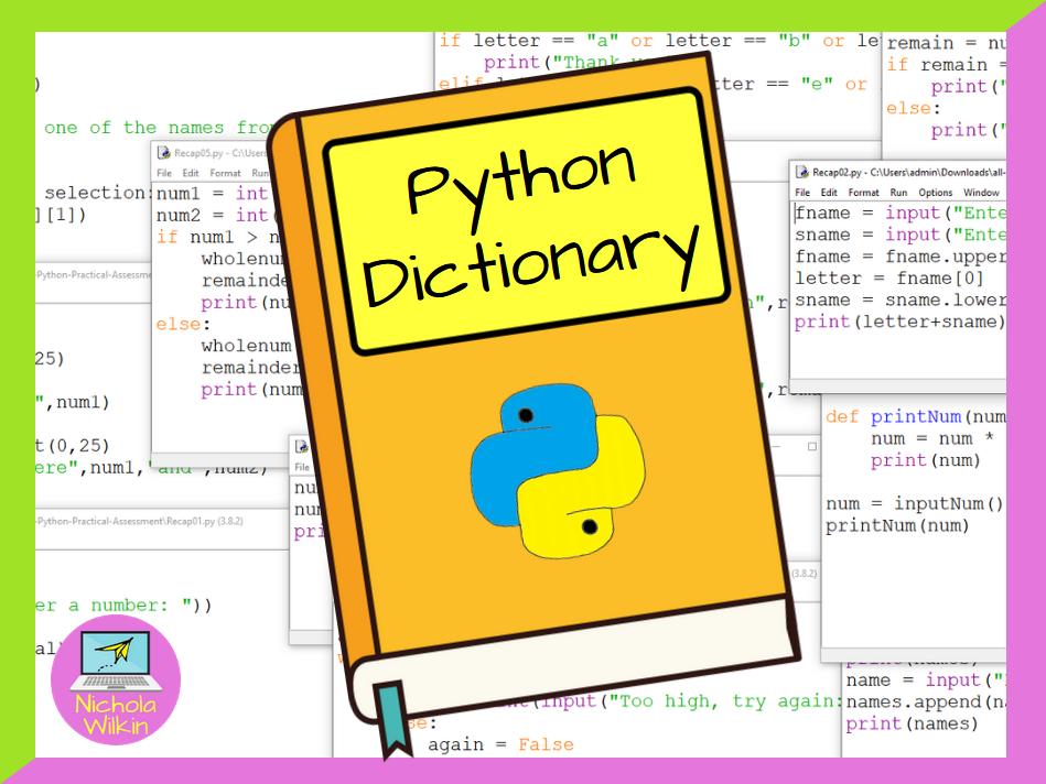 GCSE Computer Science and KS3 Computing: Python Dictionary