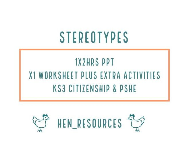 Stereotypes (2 lessons)