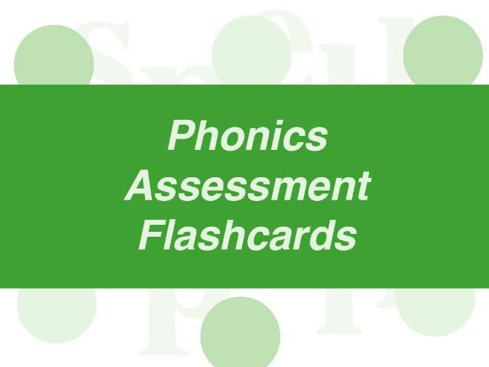 Phonics Assessment Flashcards: Year 1 (4-6 years)