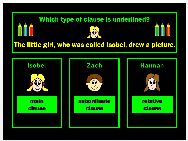 Clauses PPT Powerpoint Game by Grammatickx