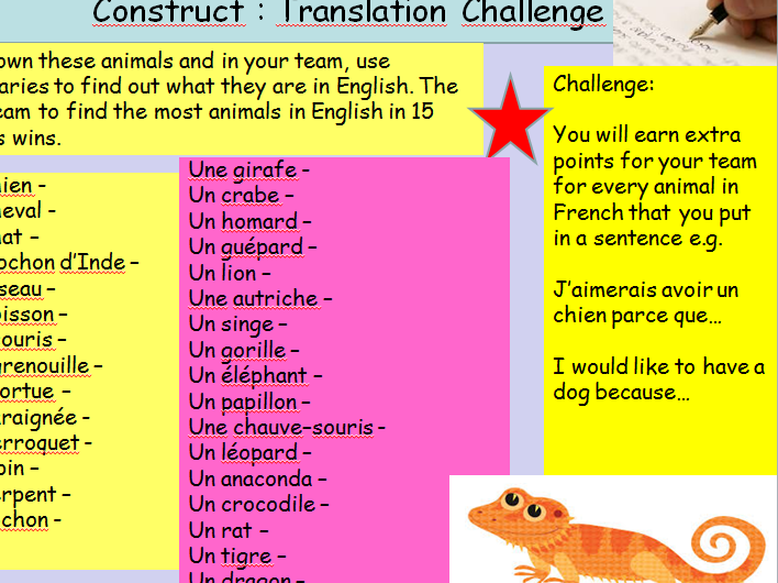 KS3 Spanish: Easy Cover Lesson on Animals with Design your own Maze