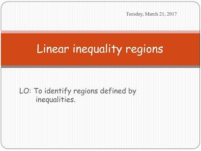 Linear inequality regions