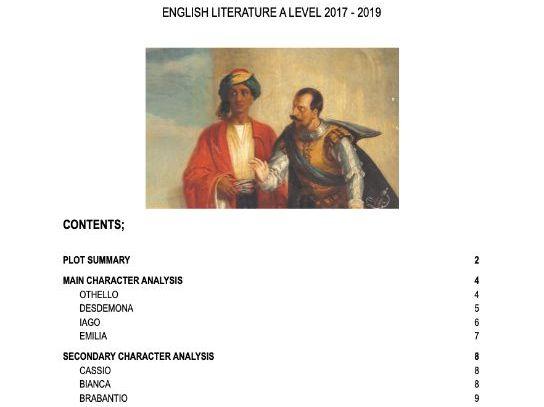 Othello A* A level Revision Notes
