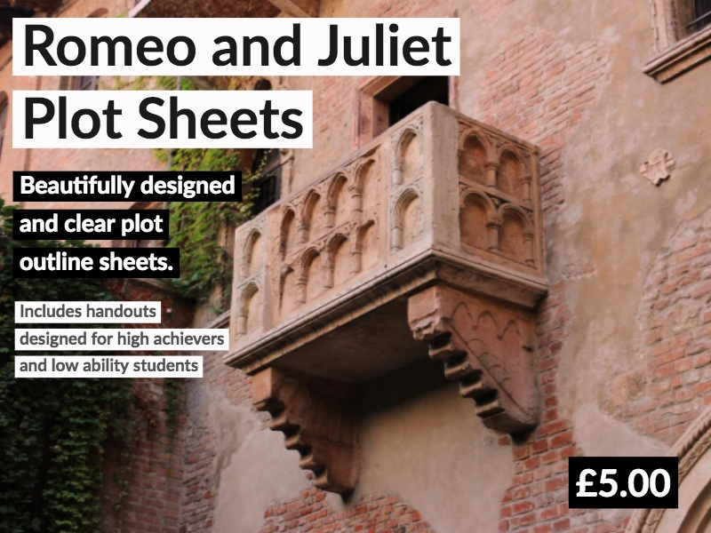 Romeo and Juliet Plot Sheets
