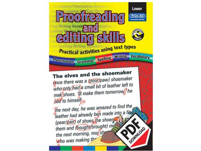 Proofreading and Editing Skills: Lower eBook KS1 (Age 6-8)