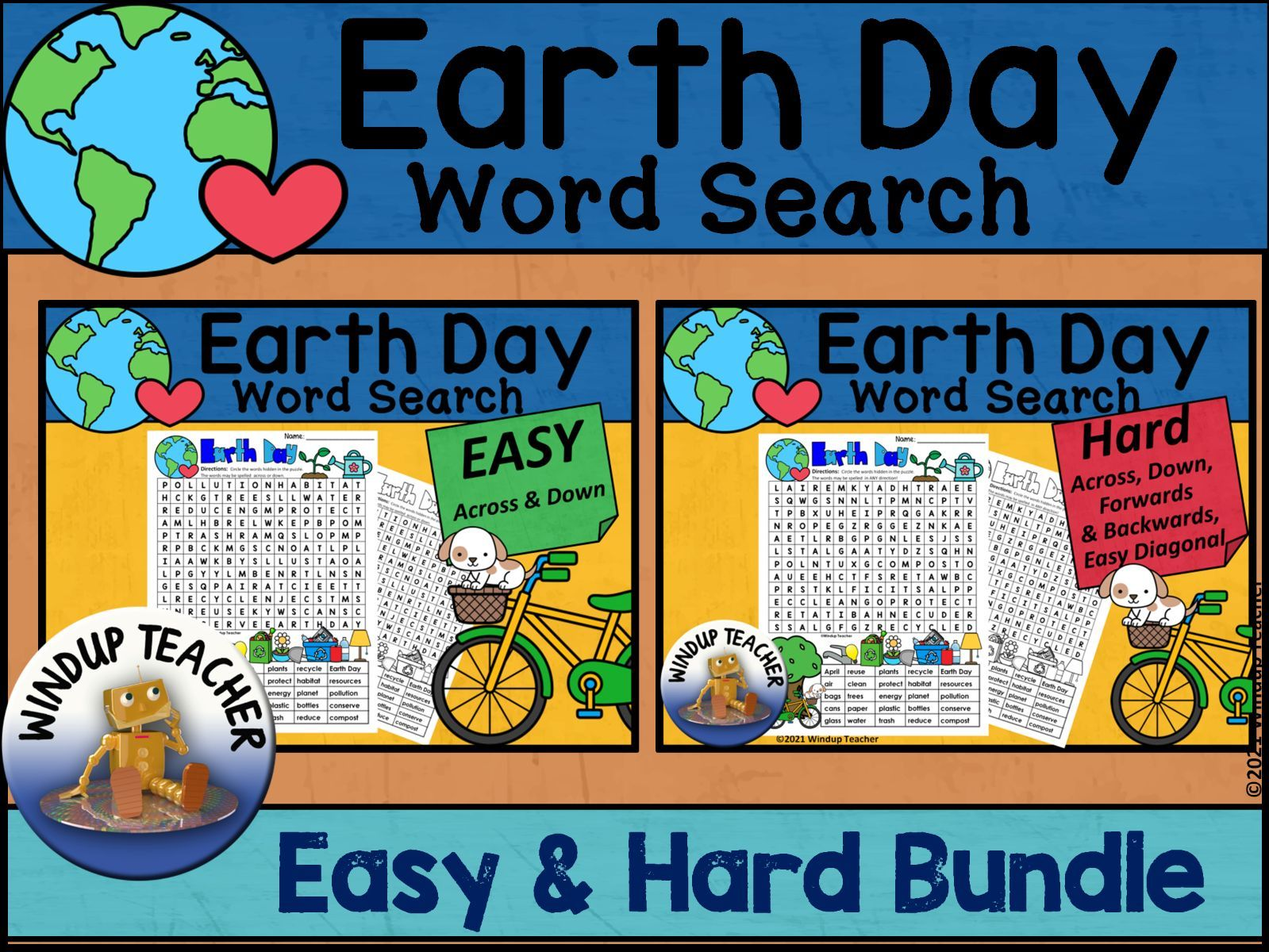 Earth Day Word Search BUNDLE