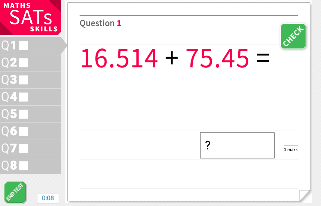 Add two-digit numbers with decimal places - KS2 Maths Sats Arithmetic - Interactive Exercises
