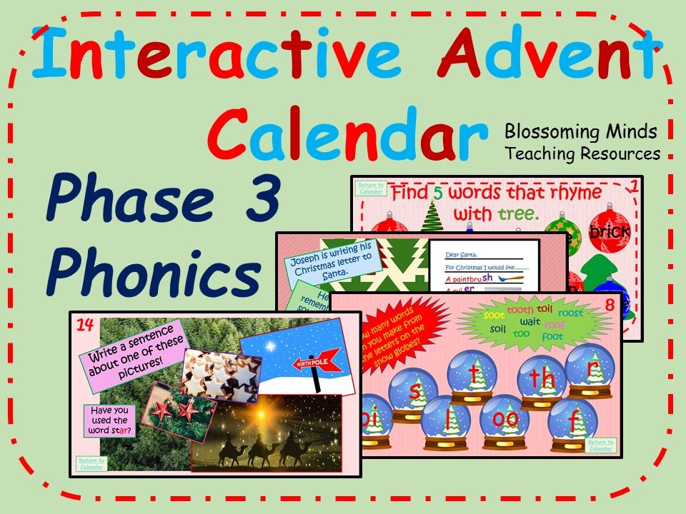 Phonics Phase 3 - Christmas Advent Calendar