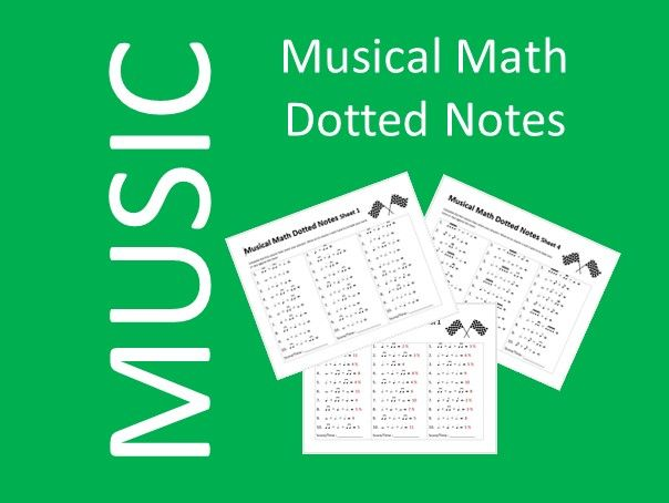 Musical Math Dotted Notes