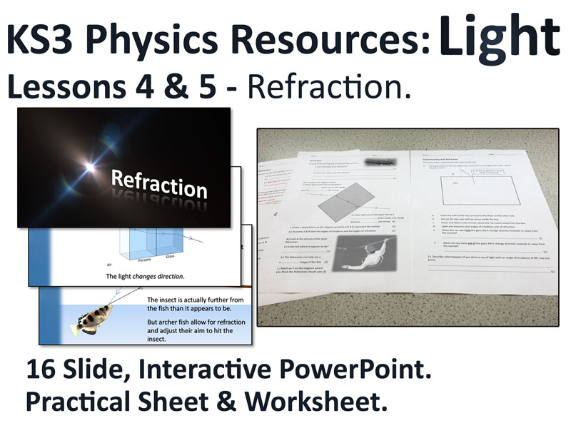 KS3 Physics Lesson Resources - Light - Refraction (Lessons 4&5)